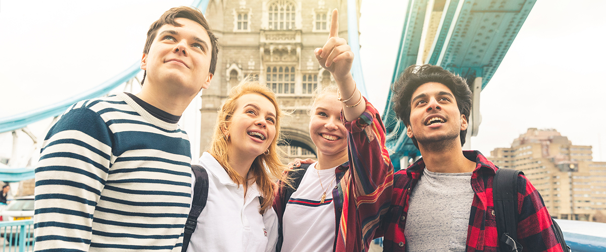 image: a group of students in London
